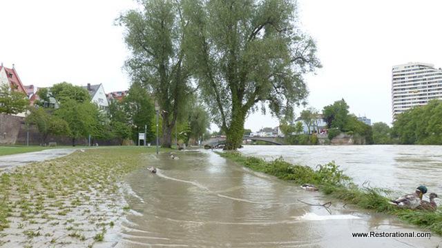 Flooded Streets Near Jacksonville